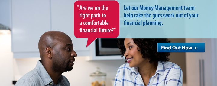 A money management group slide image to promote financial planning