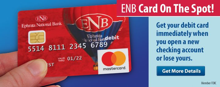 ENB Card on the Spot promotion