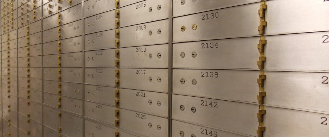 Safe deposit boxes at Ephrata National Bank