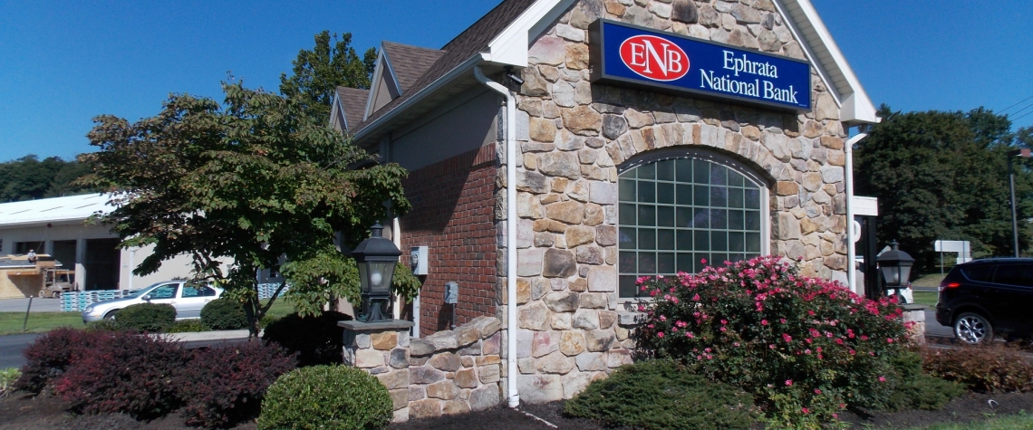 Exterior image of the Ephrata National Bank in the Georgetown PA location