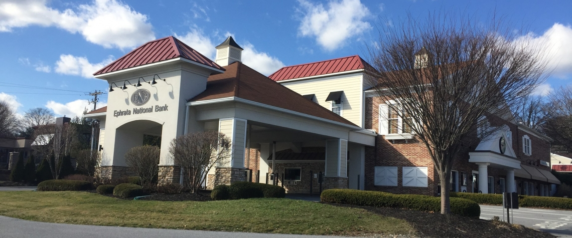 Exterior image of the Ephrata National Bank in the Leola PA location