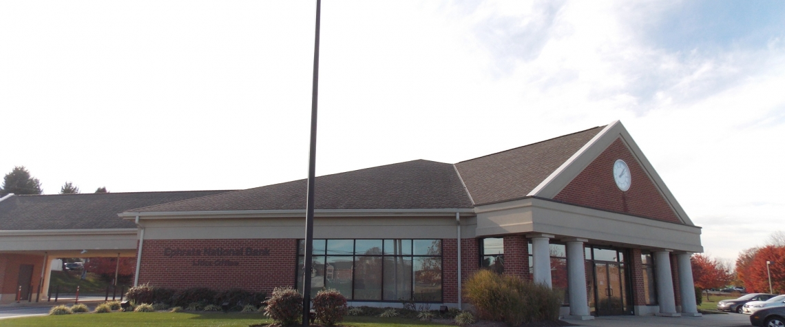 Exterior image of the Ephrata National Bank in the Lititz PA location