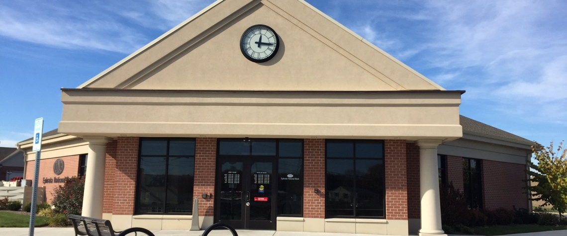 Exterior image of the Ephrata National Bank in the Myerstown PA location