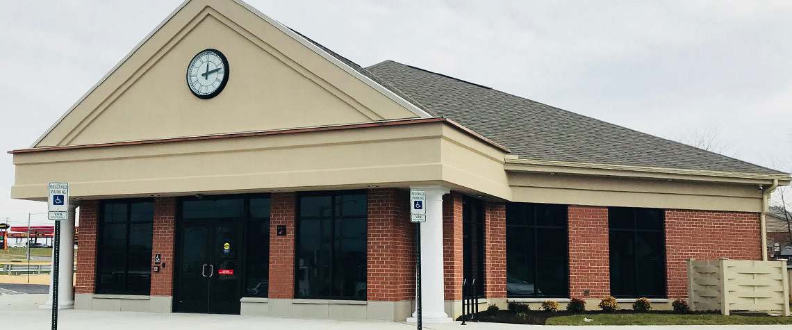 Exterior image of the Ephrata National Bank in the Strasburg PA location