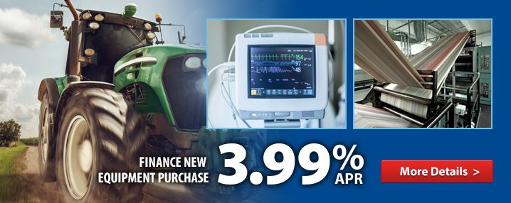 3.99% special rate for equipment finance