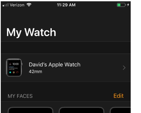 My Watch Screen