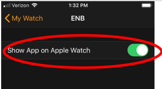 Show on Apple Watch
