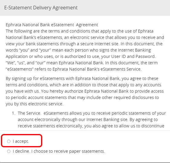 eStatement Agreement
