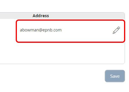eStatement Email Screen