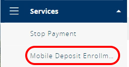 Mobile Deposit Enrollment