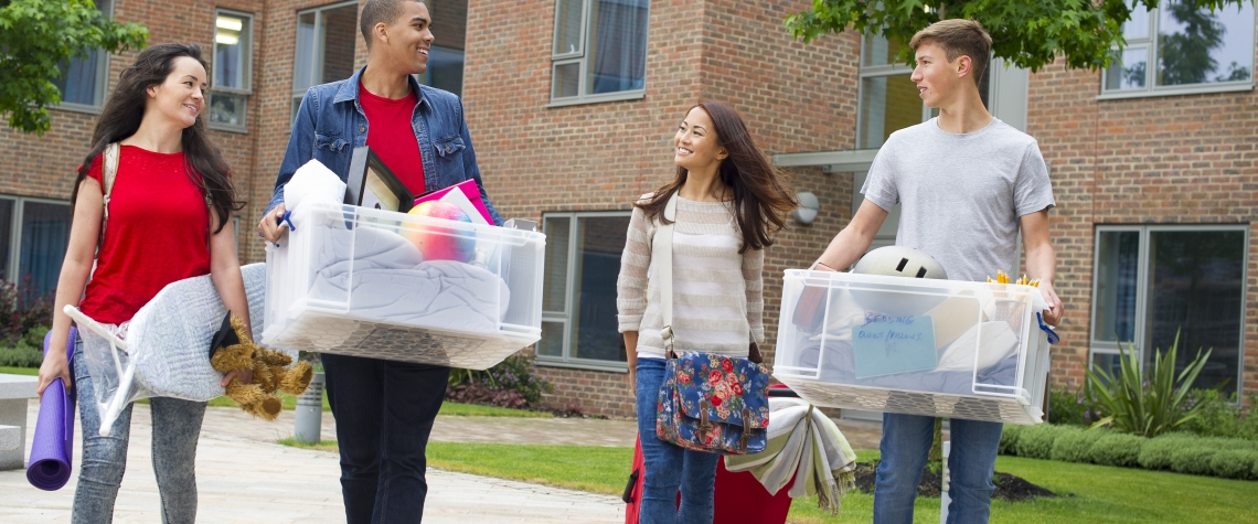 Students moving into dorms