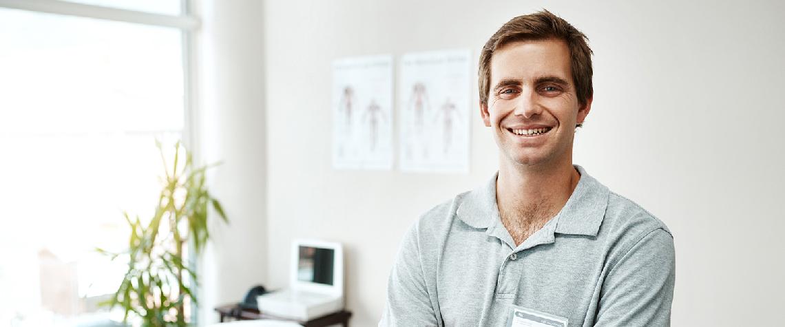 Chiropractor smiling